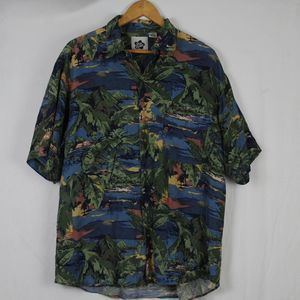 Hilo Hattie Silk Hawaiian Shirt M